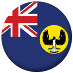 South Australia State Flag 25mm Flat Back